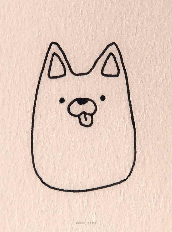 corgi dog drawing