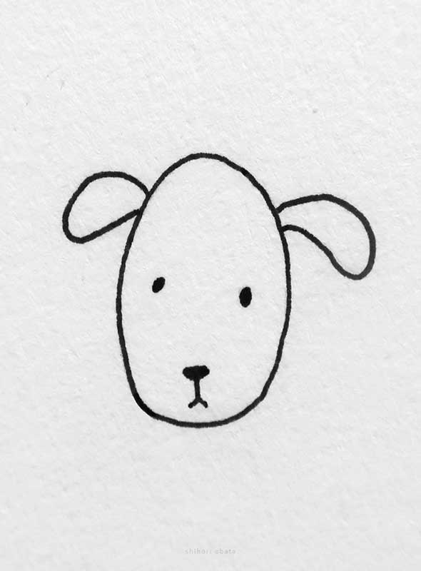 easy dog drawing face