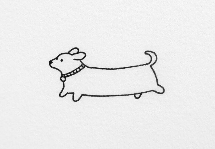 easy dog drawing ideas