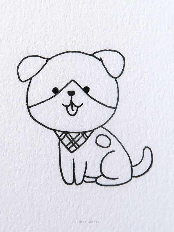 easy dog drawing cute