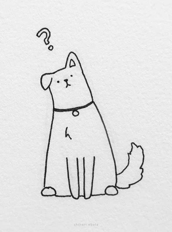 easy cute dog drawing
