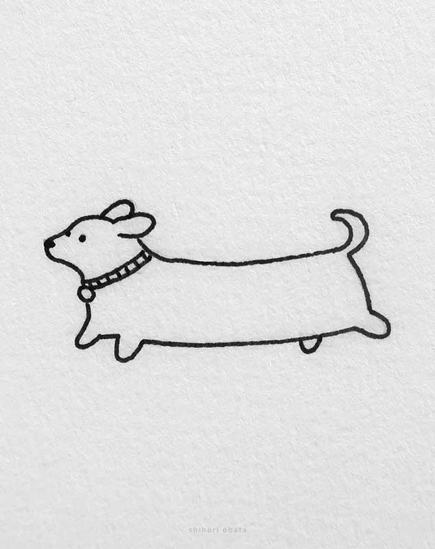 easy dog drawing dachshund