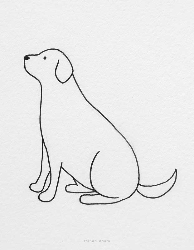 easy dog drawing labrador