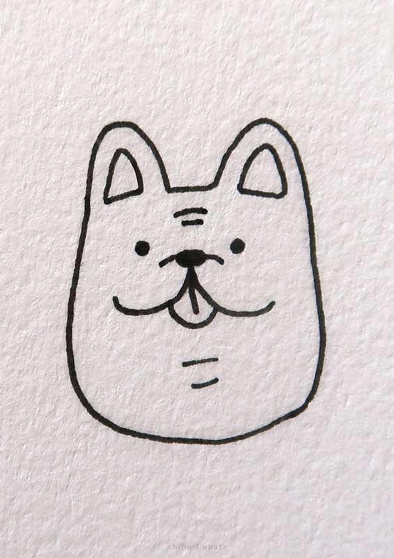 french bulldog drawing easy
