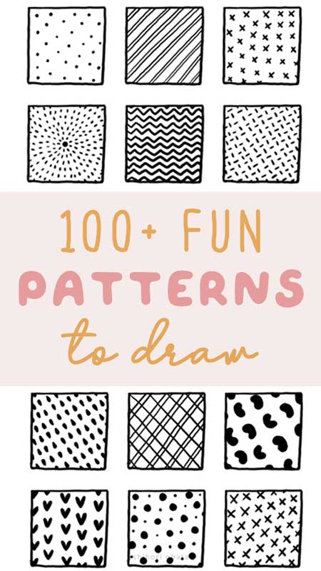 fun easy cool patterns to draw
