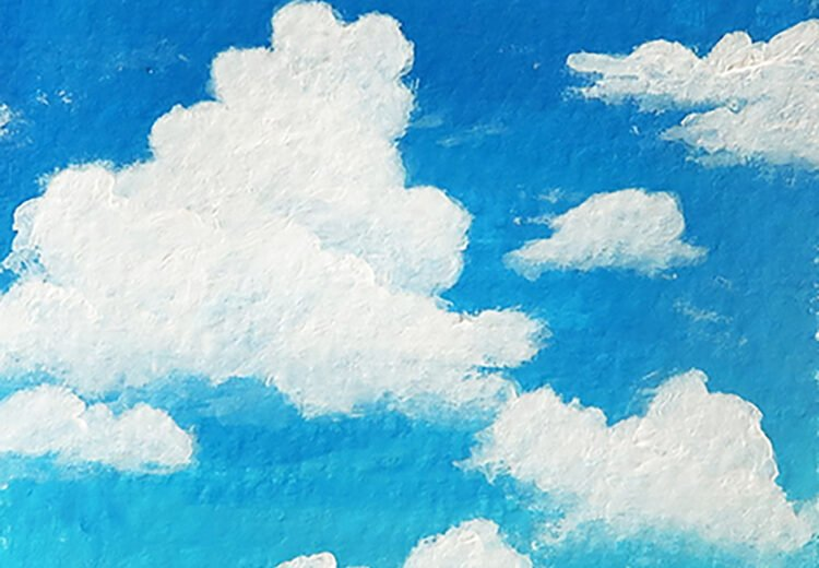 how to paint clouds
