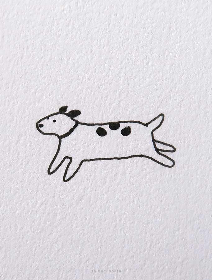 running dog drawing