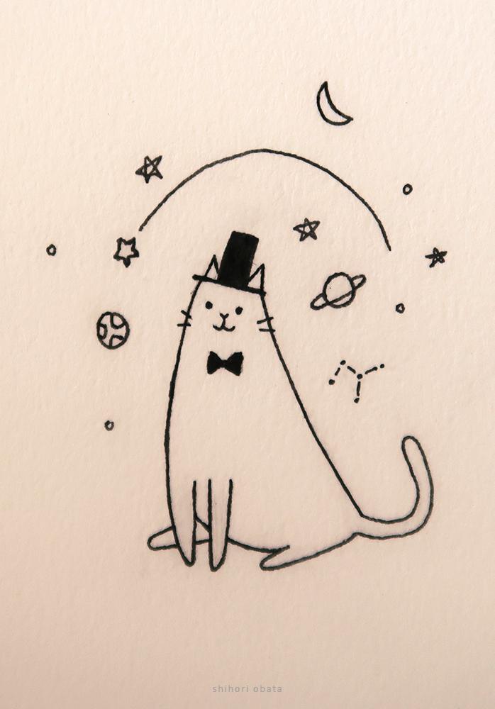 magic cat drawing easy cute