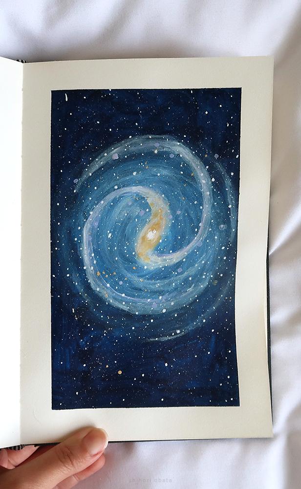 milky way galaxy painting