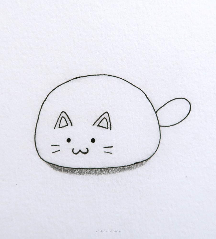 easy cat drawing cute