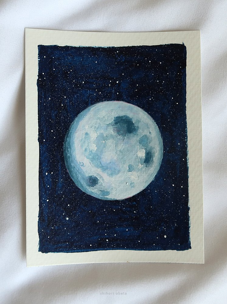 moon painting easy