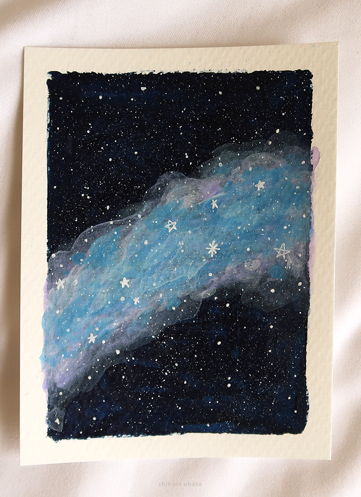 space clouds easy painting
