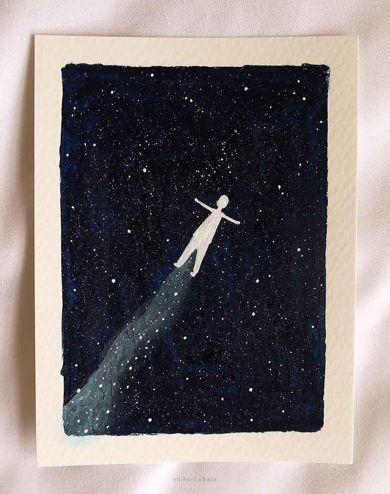 outer space easy painting