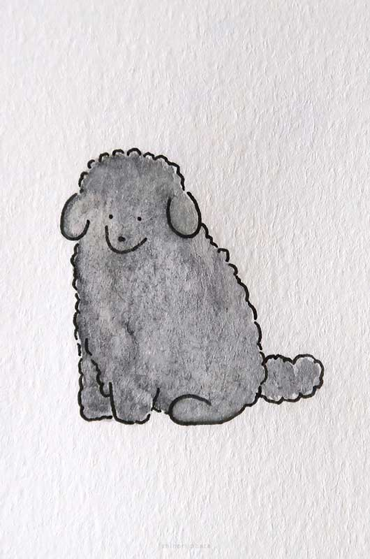 toy poodle drawing art