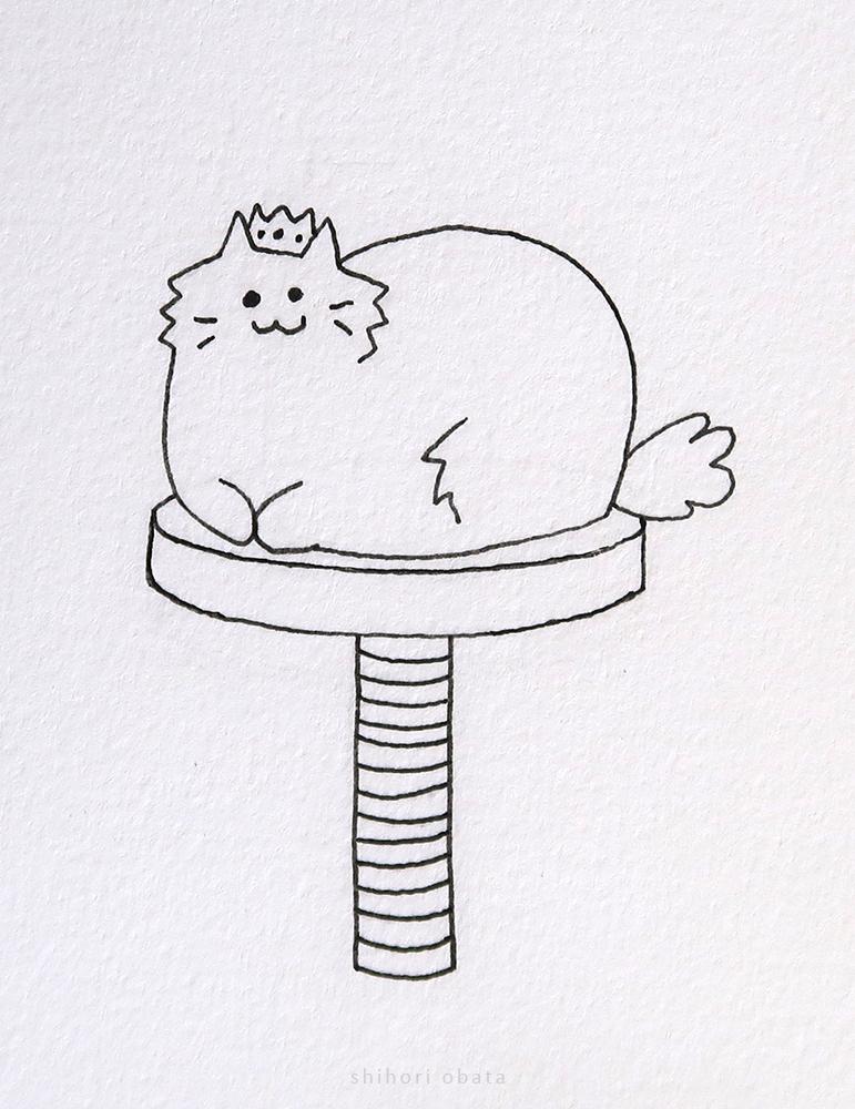 royalty cat drawing