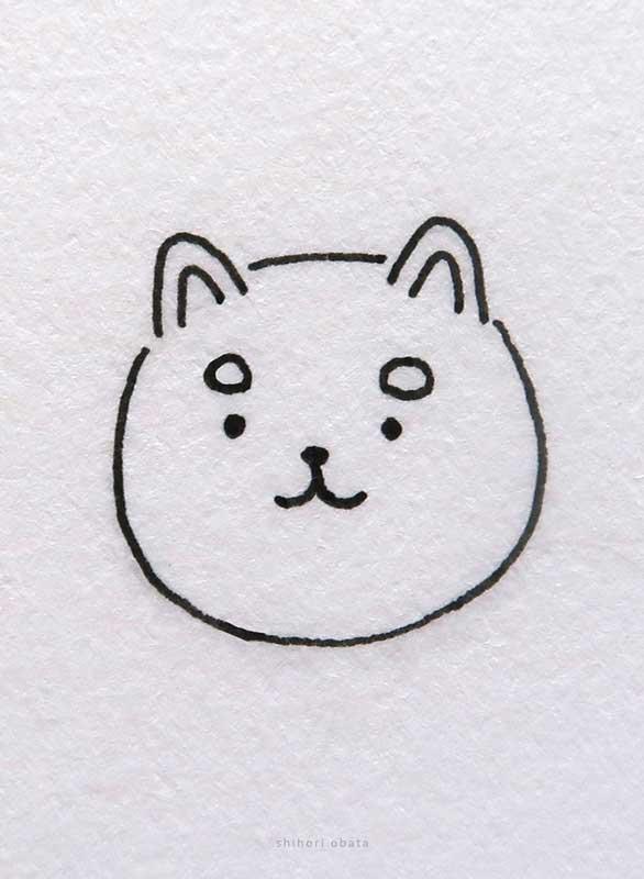 shiba inu dog drawing easy