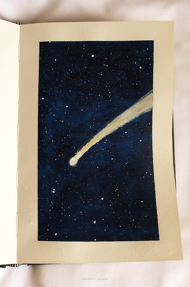 shooting star space painting