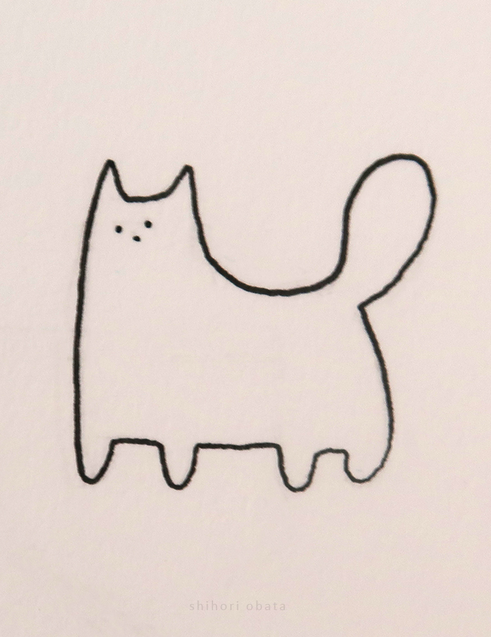 cat drawing simple