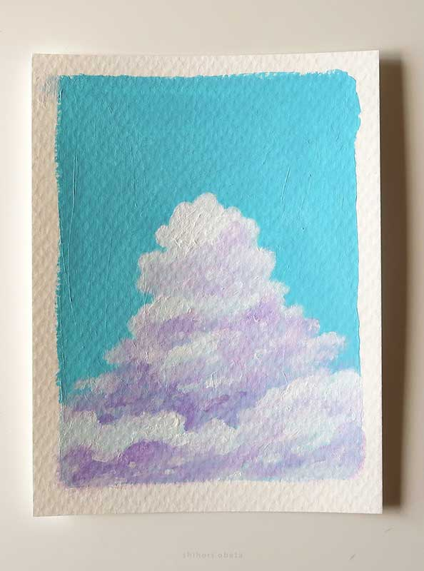 clouds painting easy