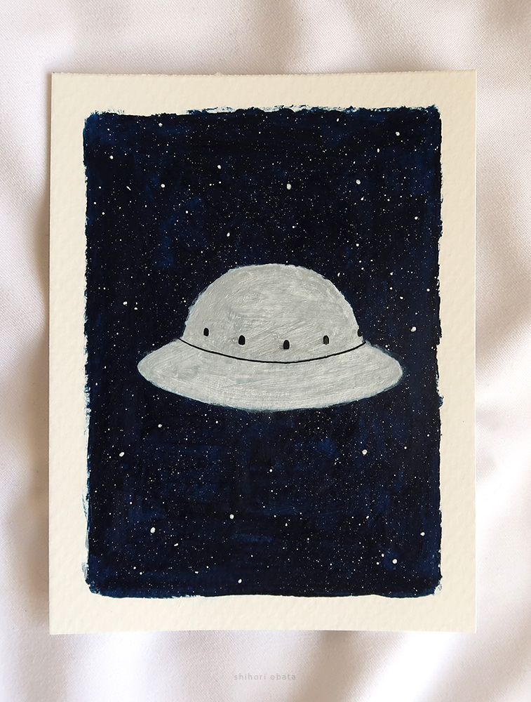 ufo outer space painting