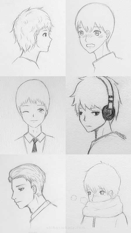 anime boy drawing ideas