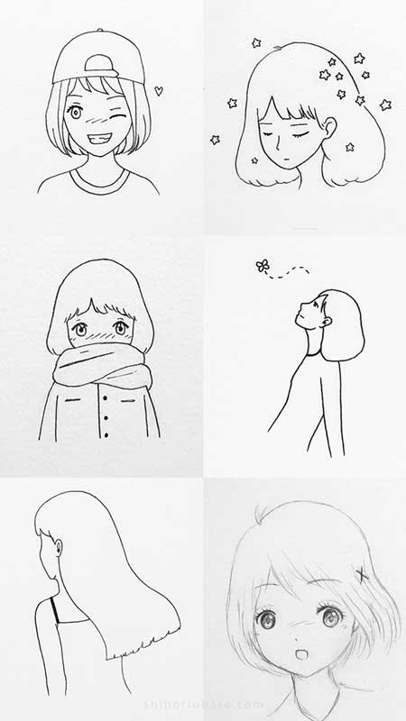 easy anime girl drawings