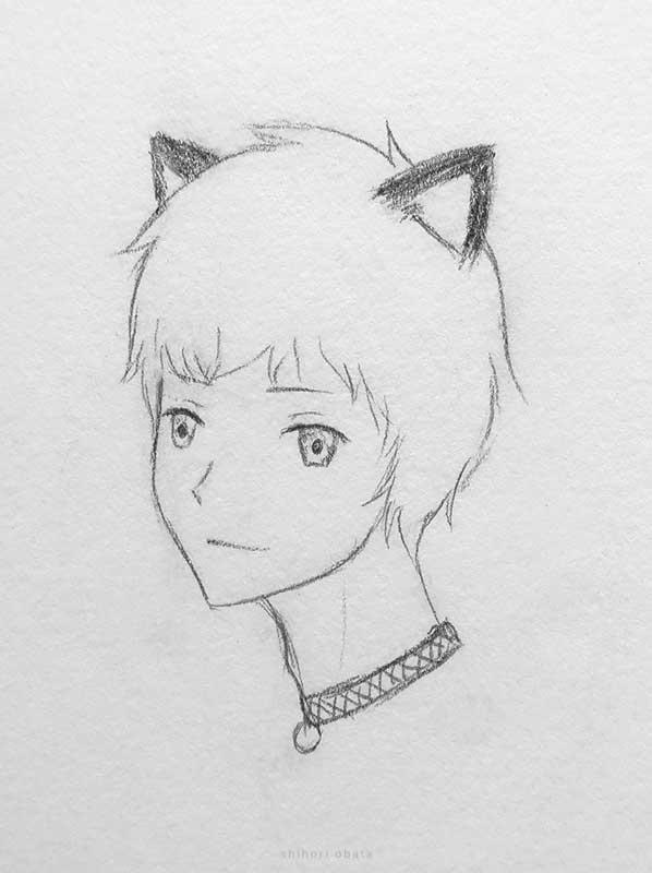 cat ears anime boy