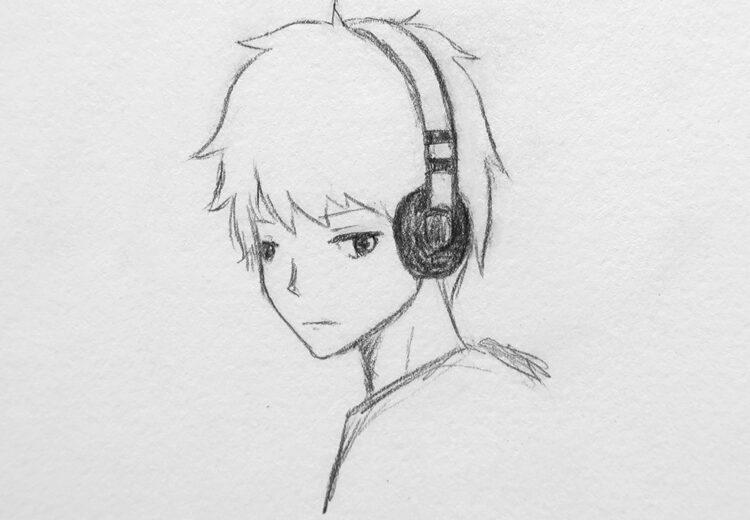 anime boy drawing