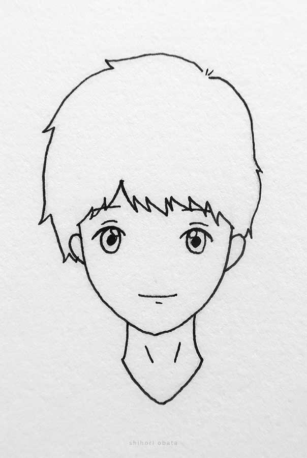 easy anime boy drawing face
