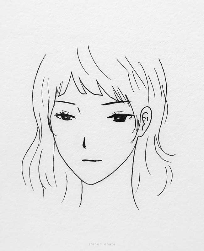 anime girl easy drawing