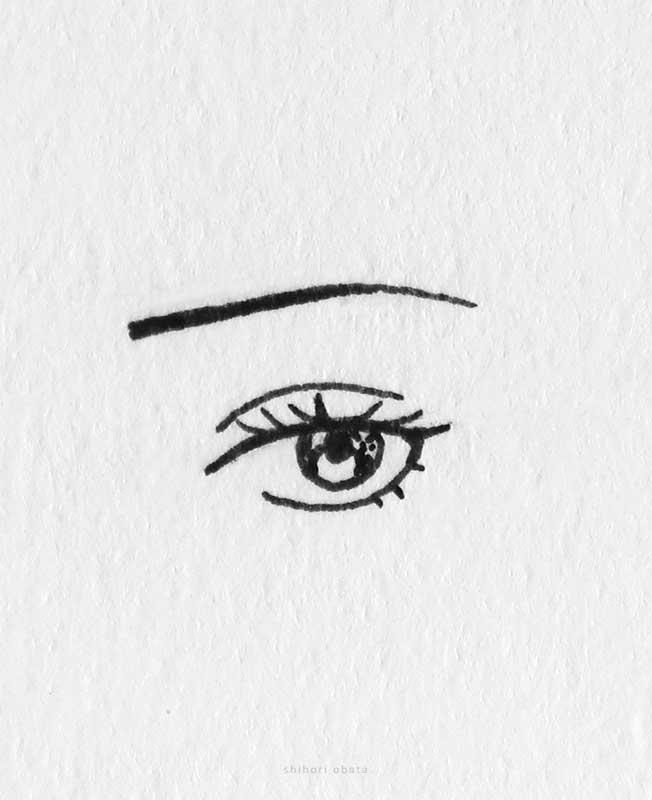 anime female eye drawing