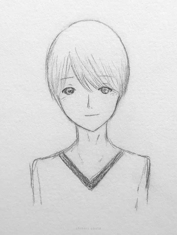 anime male boy drawing