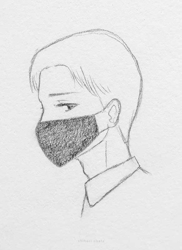 mask anime drawing