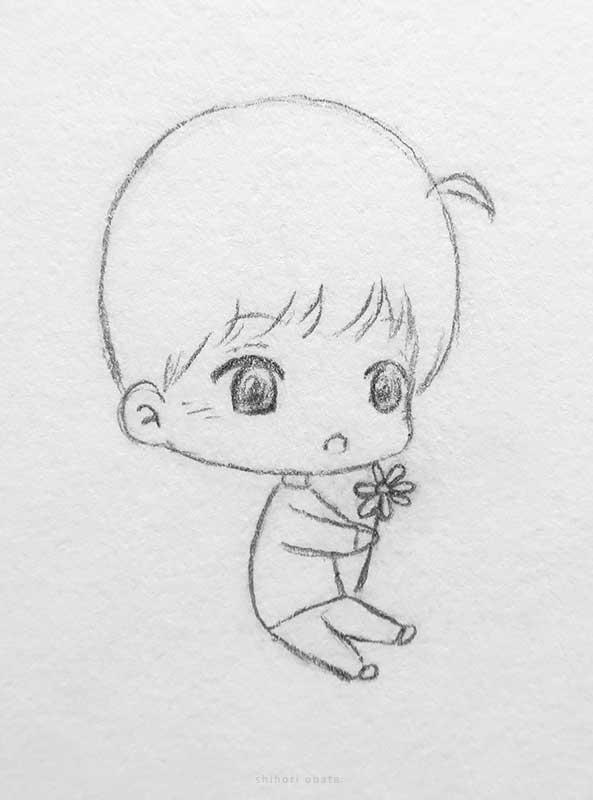 chibi anime boy drawing