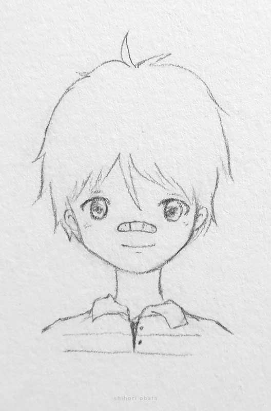 easy anime boy drawing