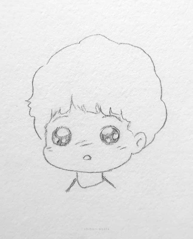 chibi anime boy drawing cute