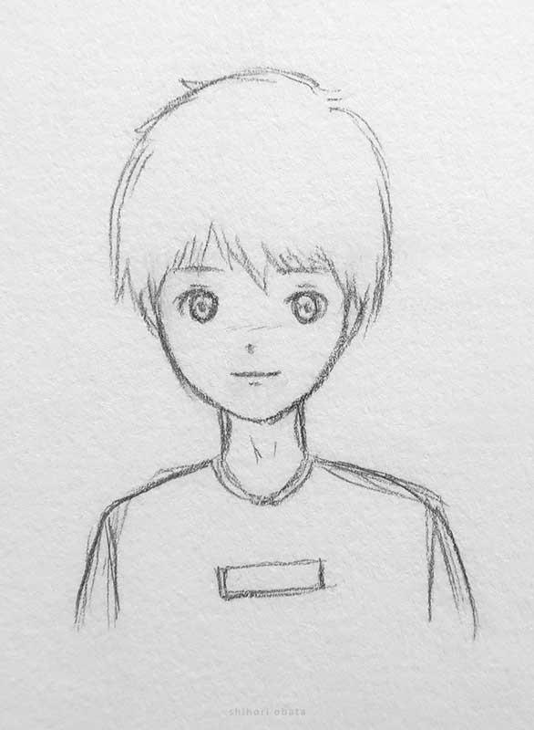 pencil drawing easy anime boy