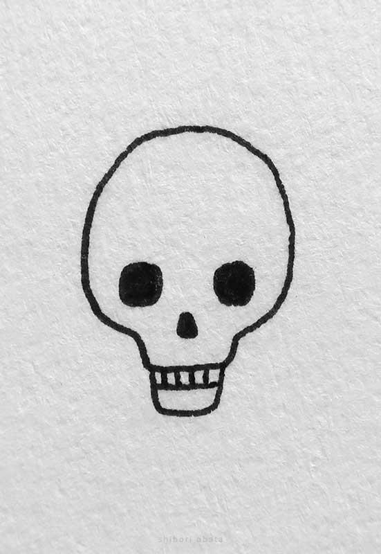 simple skull drawing