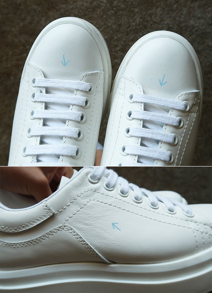 leather sneaker creases