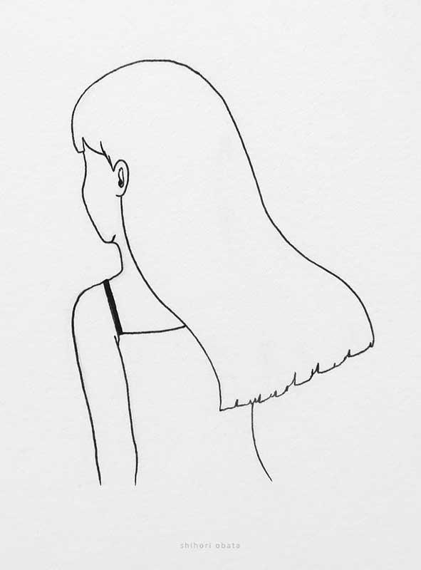 long hair drawing girl
