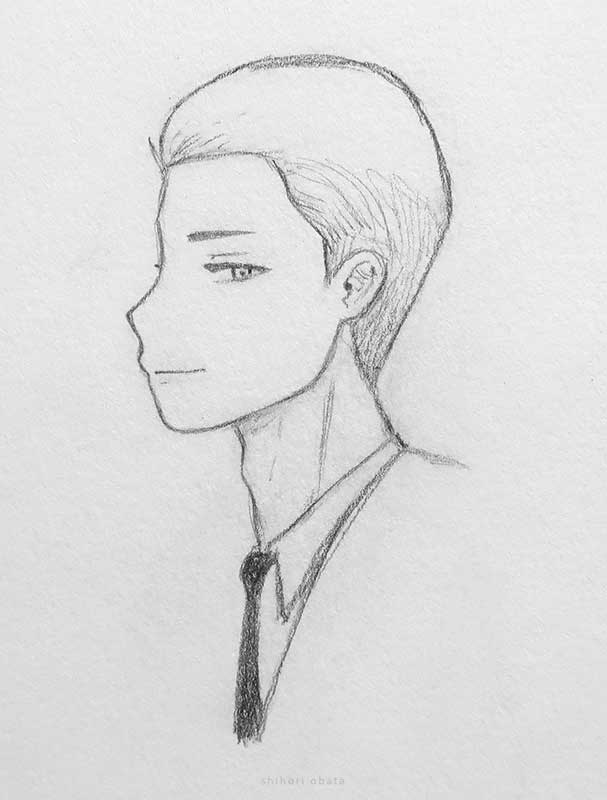 male anime drawing
