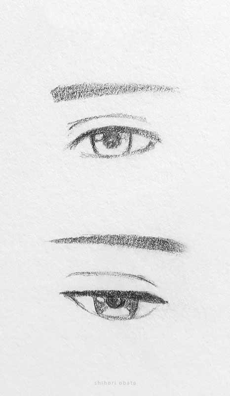 male anime eyes drawing