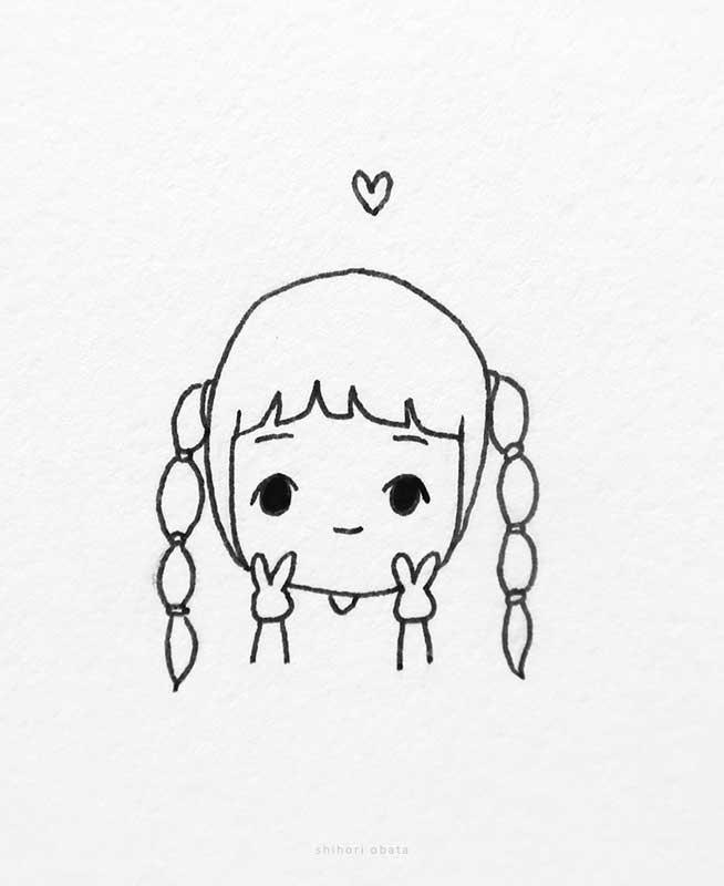 chibi anime girl drawing