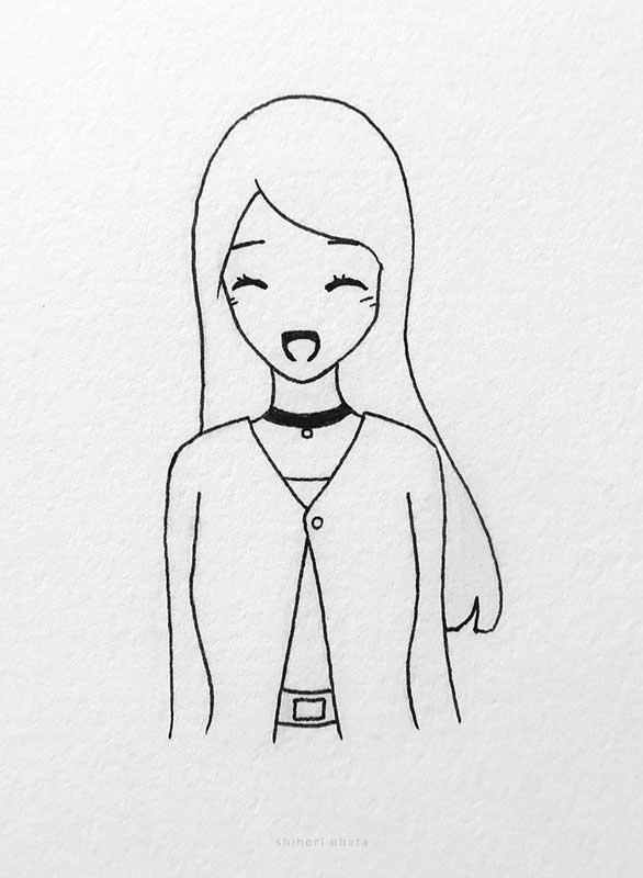 anime girl drawing art