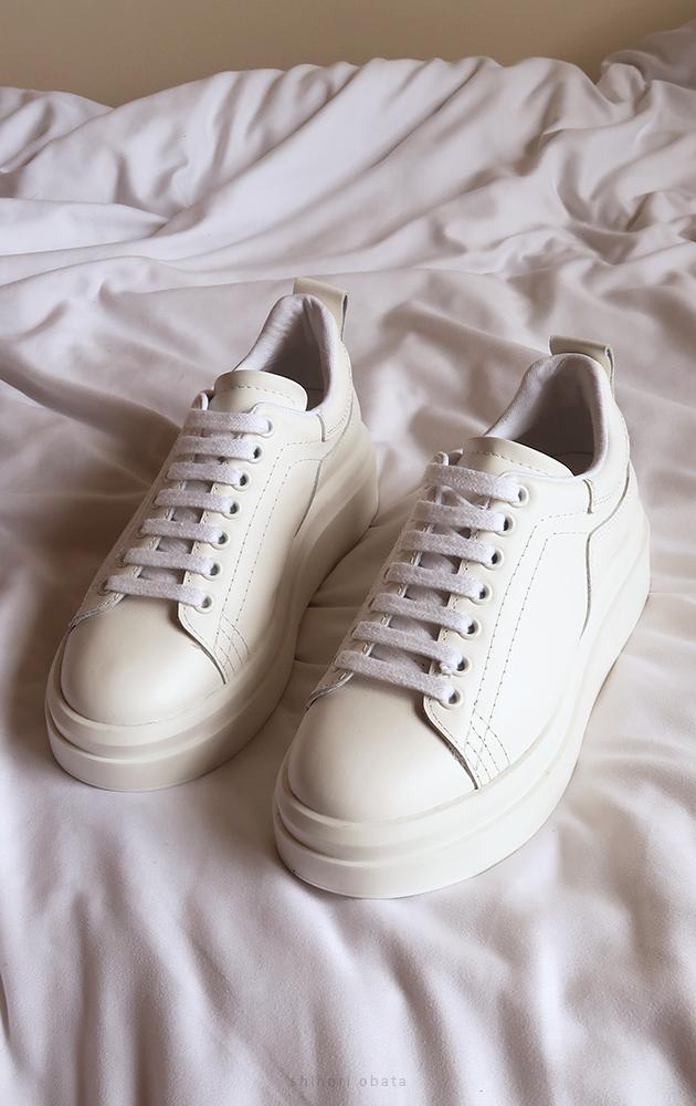 zara white leather sneaker platform