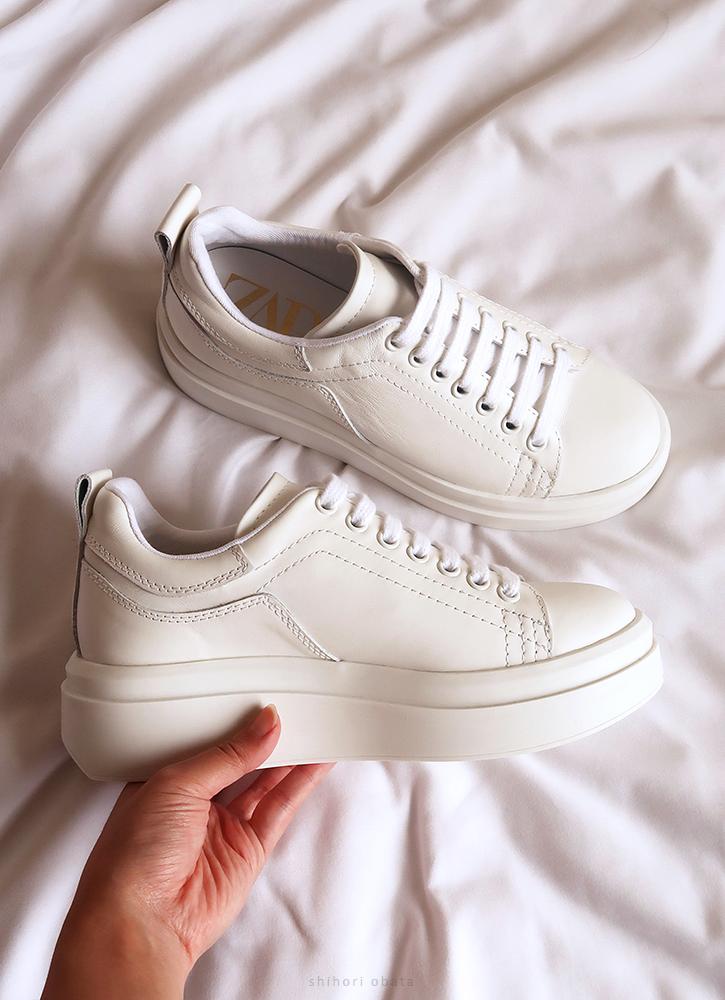 white leather sneaker platform