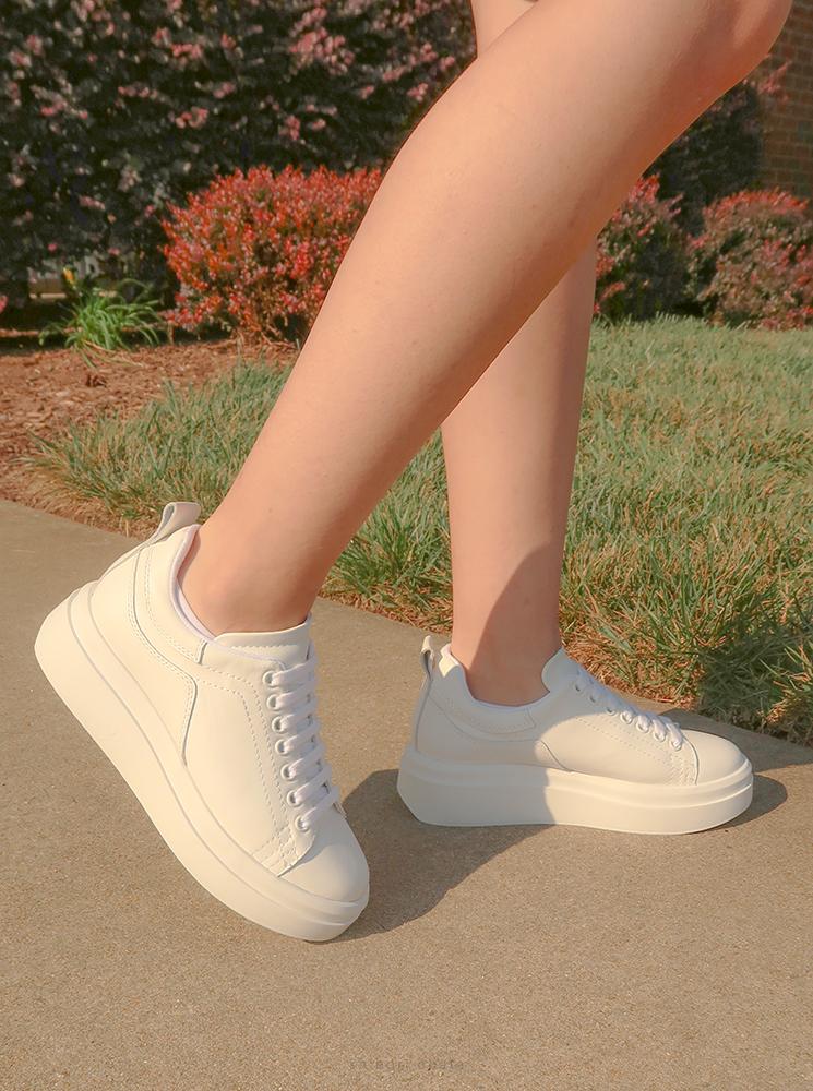 zara white sneaker platform
