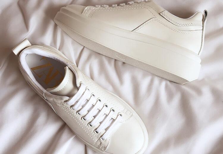 zara white sneaker