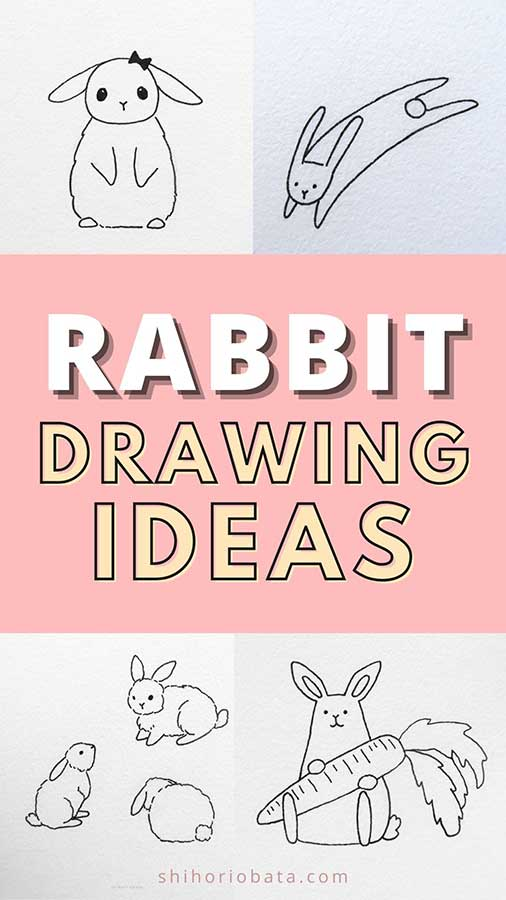 cute easy rabbit bunny drawings