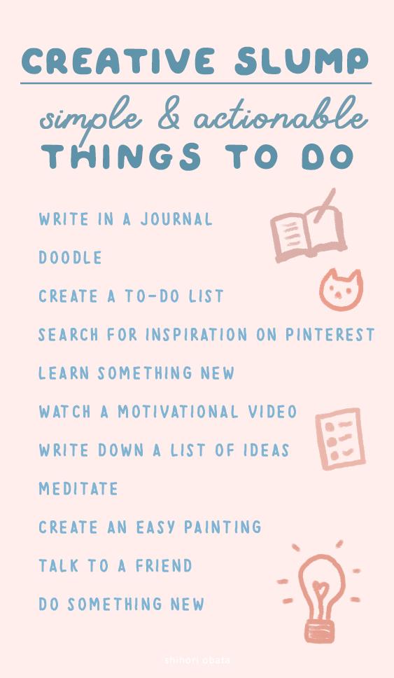 things to do creative slump